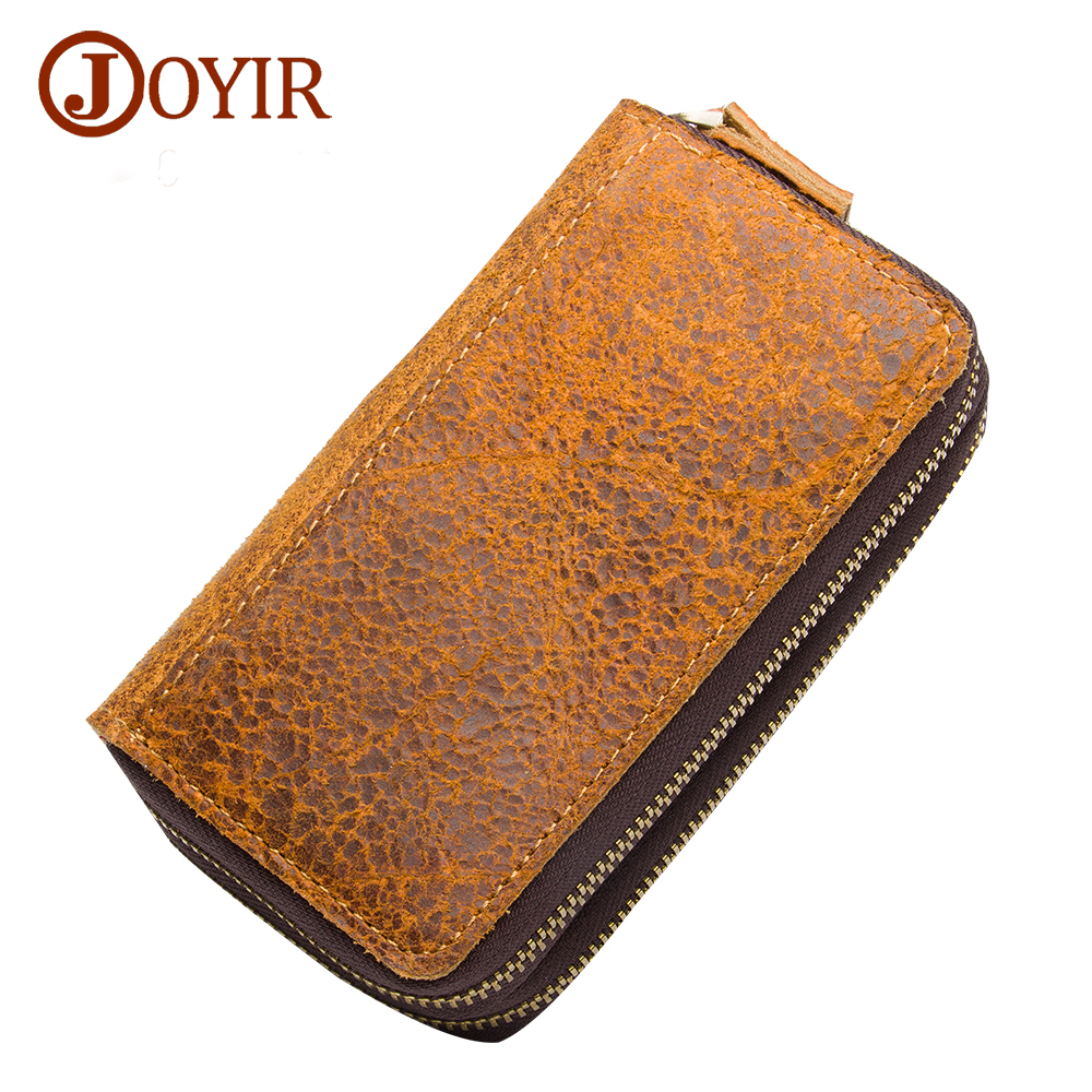 JOYIR Real Cowhide Leather Key Holder Genuine Leather Small Casual Fashion Key Case Holder For Men Women K022 2017 New Arrival