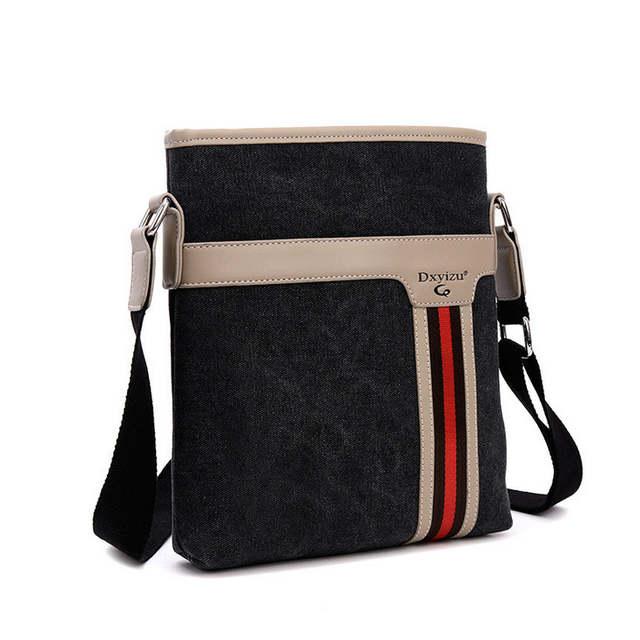 US $18.31 46% di SCONTO|Nuovi uomini messenger borse di tela uomini borsa vintage spalla borse con tracolla per uomo marrone nero piccola borsa borse