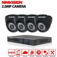 Security Waterproof Ip66 Cameras AHD 1080P 3000TVL With 4channel AHD DVR System 4ch Cctv Camera Kit