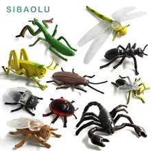 Simulation Animals models figurine Dragonfly Ant Beetle Insect miniature garden home decoration accessorie Childrens Toys Gift