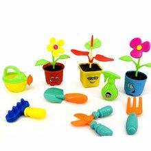 QICSYXJ Birthday Gift Classic Toys Pretend Play Simulation Garden Childrens Flower Tools Toys Plastic Pots Scissors Shovel