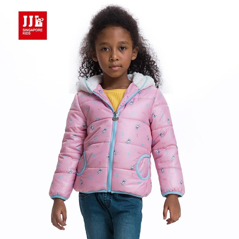 Kızlar kış coat baskı sevimli karikatür baskı kürk kaput çocuk ceketler kız parka çocuk giyim kız giyim