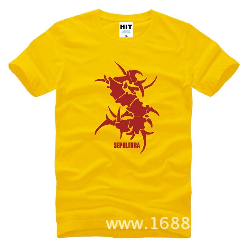 SEPULTURA Tribal Logo Metal Punk rock T Shirt T Shirt For Men 2016 Men's Short  Sleeve Cotton Casual