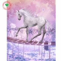 5D Diamond Painting Crystal Needlework Diamond Embroidery Animal Horse Patterns Full Rhinestone DIY Hobby Crafts Home