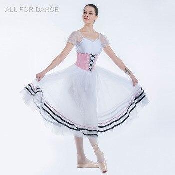 Puff Sleeve Pink Velvet Bodice Romantic Ballet Tutu Girl & Women Stage Performance Ballet Cosutme Tutu