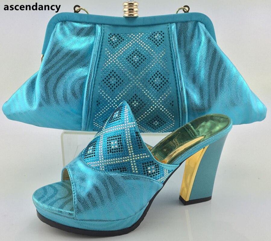 T Hochzeit Passenden peach Sets Für Nigerian Envio Tasche pink Set Schuhe Gratis Mit Neue Frauen Taschen Und Italienische Blue CgSqSxZ