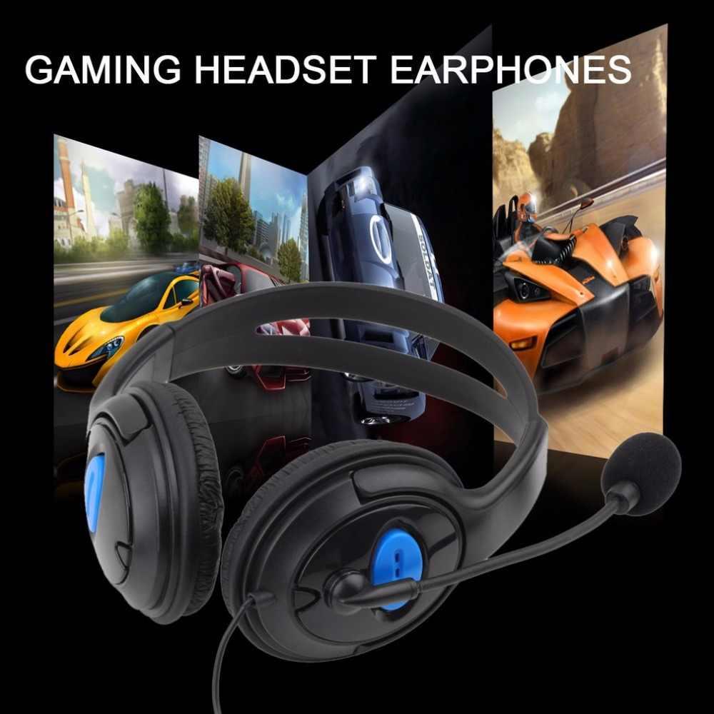 السلكية سماعة الألعاب سماعات سماعة رأس بمايكروفون سماعة استيريو ومايك العشاء باس لسوني PS4 للبلاي ستيشن 4 اللاعبين