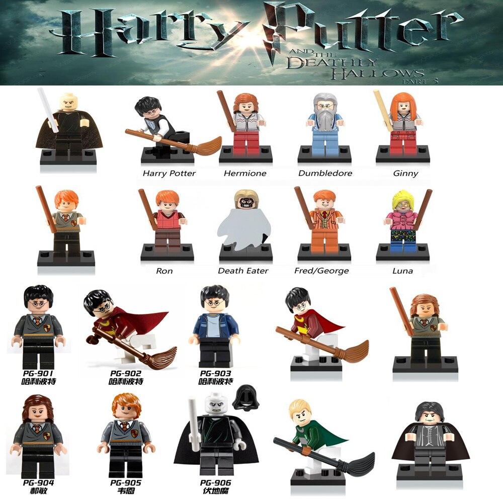 Per legoings Singola Vendita di Harry Potter Hermione Granger Lord Voldemort Ron Draco Malfoy Building Blocks Giocattoli Dei Mattoni figure