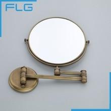 Hochwertige Mode Antike Kupfer Versenkbare Wand Badezimmer Spiegel/8 Zoll  3x Vergrößerungs Wand Bad Kosmetikspiegel