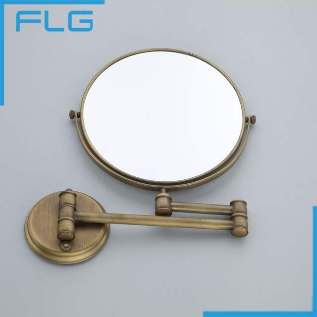 Online High Quality Fashion Antique Copper Retractable Wall Bathroom Mirror 8 Inch 3x Magnifying Mounted Bath Makeup Aliexpress Mobile