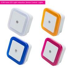 Automatyczne światło led kontrola czujnika indukcyjnego lampka nocna do sypialni s lampka nocna led lampka nocna lampka nocna do sypialni ue wtyczka