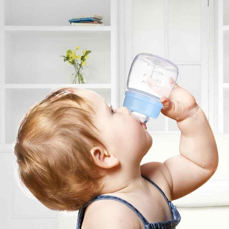 Marca nuevo precioso bebé Mini portátil alimentación libre de látex seguro recién nacido chico de cuidado de enfermería de jugo de fruta de botellas de leche 60 ML