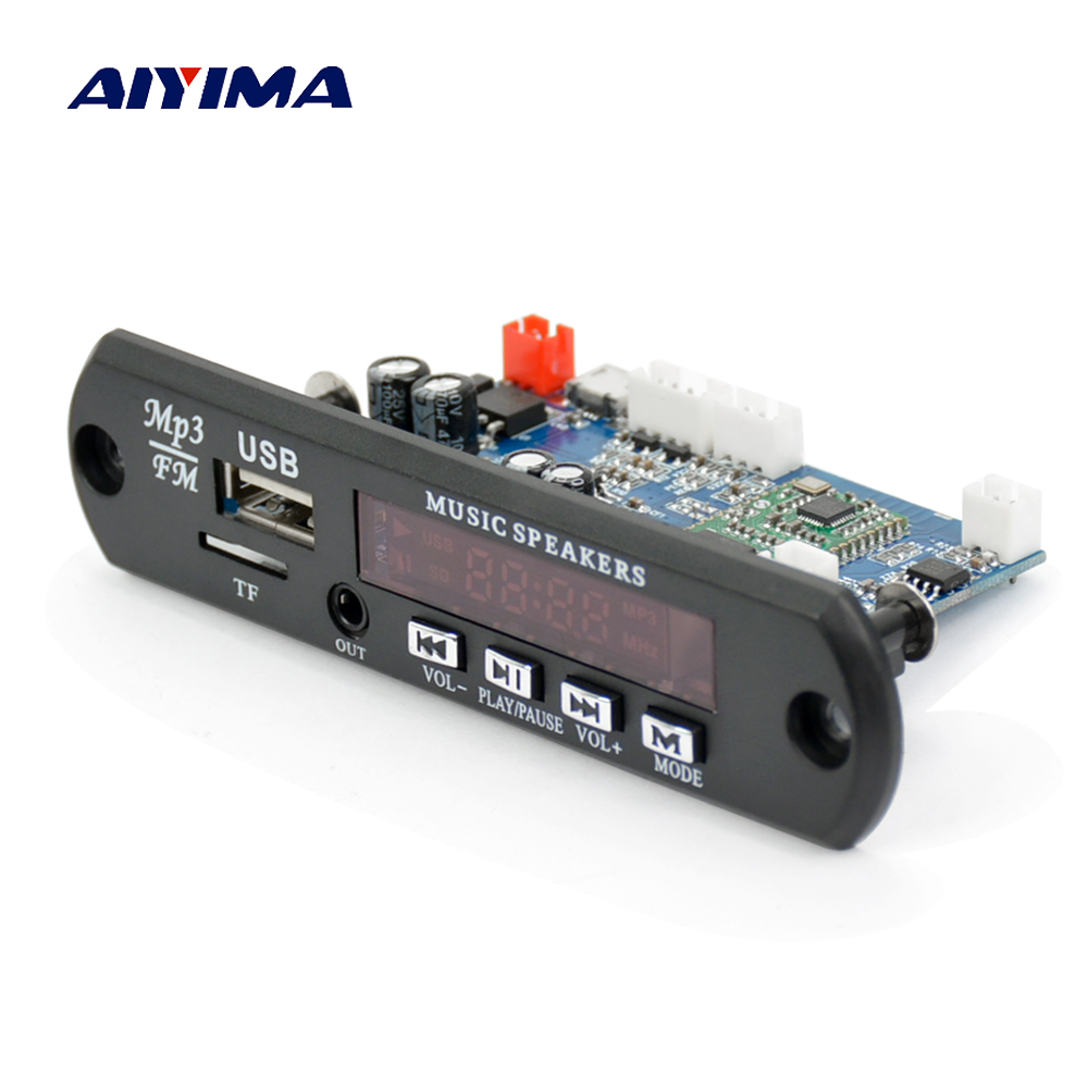 Aiyima Wireless Bluetooth 4.0 Stereo APE FLAC WAV WMA MP3 Decoder Audio Decoding Board Support FM APP Bluetooth Hands-free Call aiyima lcd lossless bluetooth decoder dts flac ape ac3 wav mp3 decoder board decode