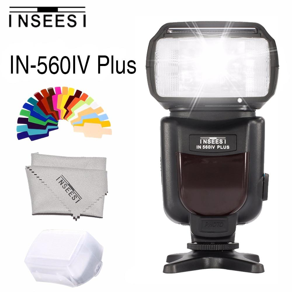INSEESI IN560IV Plus Integrado Transceptor Sem Fio Flash Speedlite para Canon Nikon Panasonic Pentax Câmera DSLR Camera Flash