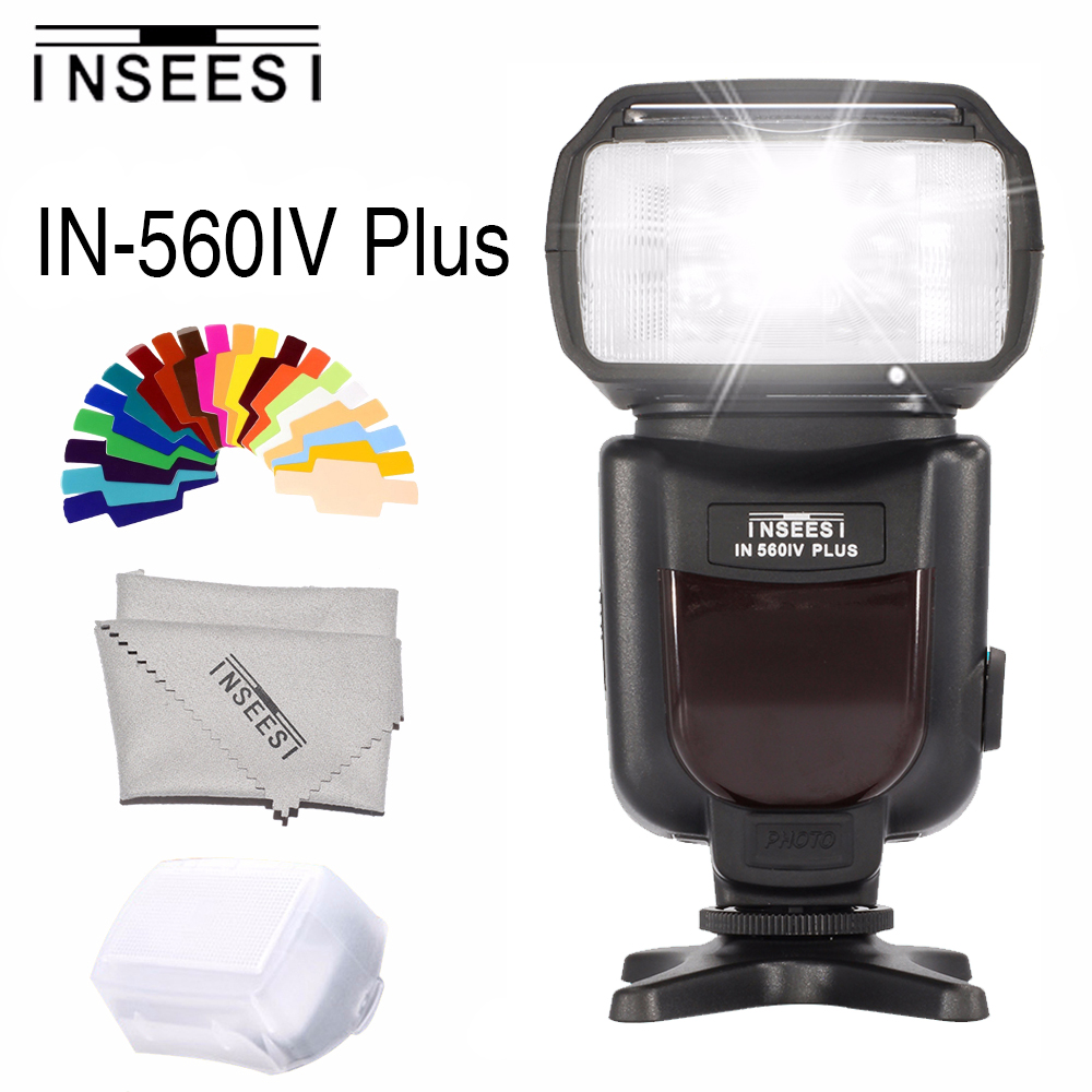 INSEESI IN560IV Plus Wireless Flash Speedlite Integrierte Transceiver für Canon Nikon Panasonic Pentax Kamera DSLR Kamera Flash