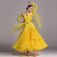 leopard standard ballroom dress for ballroom dancing Standard viennese waltz dress ballroom dance competition dresses Foxtrot