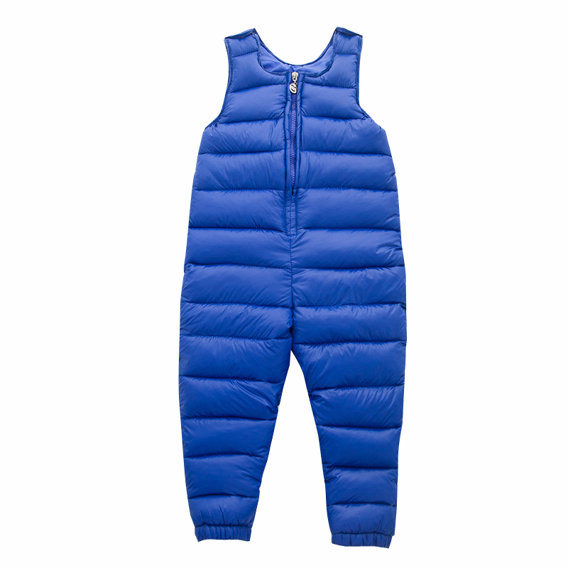 New Baby Bib Overalls Kids Down Pant Boys & Girls Warm Duck Down Overall for Russia Winter Child waterproof Trousers Jumpsuit new 2017 russia winter boys clothing warm jacket for kids thick coats high quality overalls for boy down