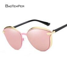 Badtemper Alta Calidad Del Ojo de Gato gafas de Sol de Las Mujeres de Oro Rosa Diseñador de la Marca de La Vendimia Gafas de Sol gafas de sol mujer gafas de Sol UV400
