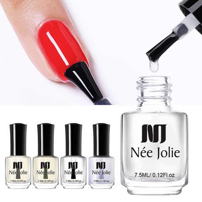 NEE JOLIE 7.5ml Nagellak Base Coat Top Coat Matte Shine Polish Protector Olie Voor Nail Art Poolse Varnish