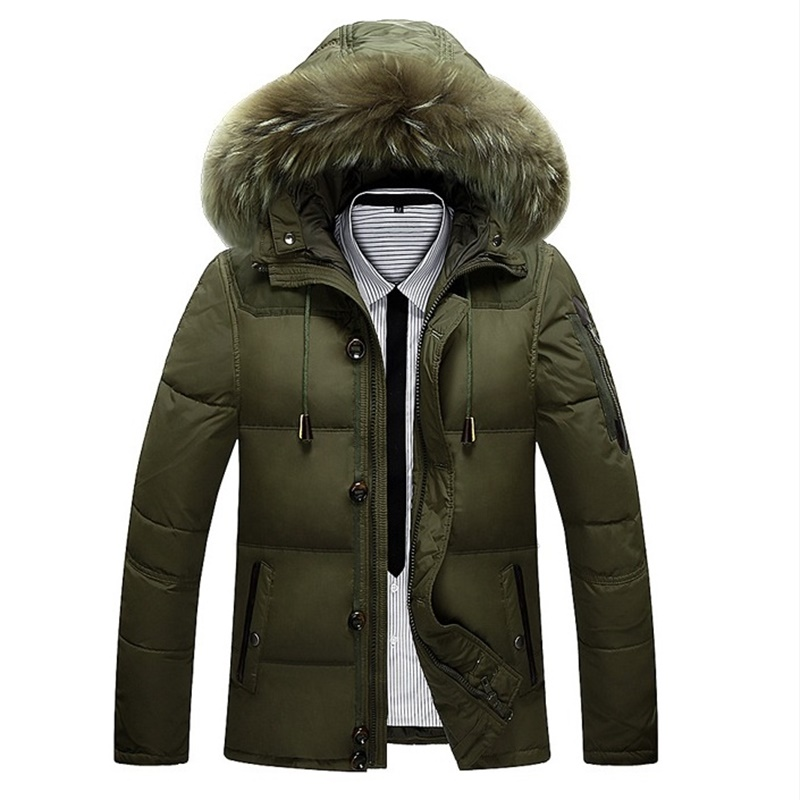 Подробнее о 2016 new style fashion Faux fur collar hooded Windproof overcoat outwear winter men casual brief warm thicken down coat parkas winter men parkas casual jackets man hooded windproof thick warm outwear overcoat wadded style solid fur collar coat 5xl