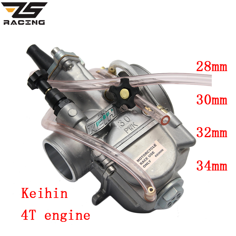 ZS Racing New Model Motorcycle 4T Engine Keihin Carburetor Carburador 28 30 32 34mm With Power Jet For Honda Yamaha Racing motor original 26mm mikuni carburetor for cbt125 cb125t cbt250 ca250 carburador de moto
