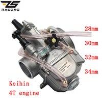 ZS Racing Nouveau Modèle Moto 4 T Moteur Keihin Carburateur Carburador 28mm 30mm Avec Puissance Jet Pour Honda Yamaha Racing moteur