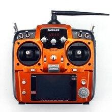 RadioLink AT10 II 2.4 Ghz 10CH RC Émetteur avec R10D II Récepteur PRM-01 De Retour De Tension Module pour RC Hélicoptère Quadcopter