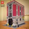 16001 4705 PCS Ghostbusters Firehouse Sede Compatibile 75827 Modello Corredi di Costruzione di Blocchi di Mattoni Giocattoli Per I Bambini