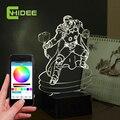 Cnhidee novidade para lâmpadas De cabeceira Thor música dos desenhos animados candeeiro De Mesa Mesa Lamparas De Noche 3D Led Night Light como presentes De natal