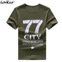 LetsKeep 6XL 2017 mens Askeri Ordu t shirt erkekler Yıldız gevşek casual Pamuk t-shirt 77 şehir O-Boyun Artı boyutu tişörtleri erkekler, MA350