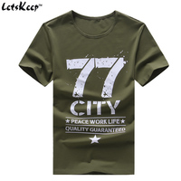 LetsKeep 6XL 2017 mens Militaire Leger t-shirt mannen Ster losse casual Katoenen t-shirt 77 stad O-hals Plus size tshirts mannen, MA350