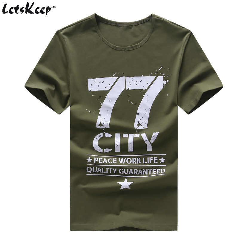 LetsKeep 6XL мужской военный армейский Футболка мужская звезда Свободный Повседневный хлопковый футболка 77 город o-образным вырезом плюс размер футболки мужские, MA350