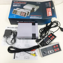 8Bit MiniNes Retro Classic Video Game Console Built-in 500/620 Games Family TV Handheld Dual Gamepads Player(2/4 Buttons)AV Port