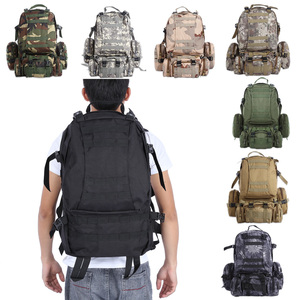 Image 5 - High Quality 50L  Large capacity Multifunction Military Backpack Camouflage Molle Army Backpacks Rucksack Men Travel Backpack