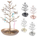 2016 Trendy Design Birds Tree Jewelry Stand Display Earring Necklace Ring Holder Organizer Rack Tower Show Rack KQS