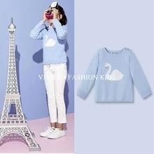 1 Belababy Brands Girls Autumn Owl Sweater 2016 New Fashion Children Long Sleeve Knitting Warm Clothing