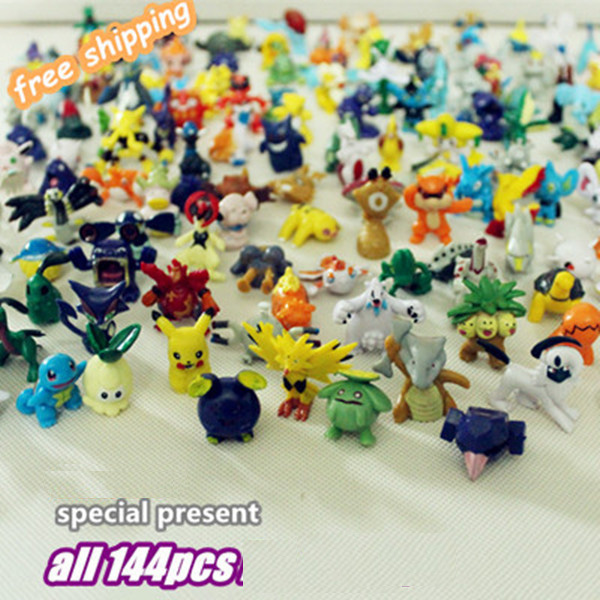 Wholesales 144pcs/lot multicolor Anime Pikachu Action Figures Cute XY Mini Figures Toys Best Birthday Gifts brinquedos 2-3cm 12pcs set children kids toys gift mini figures toys little pet animal cat dog lps action figures