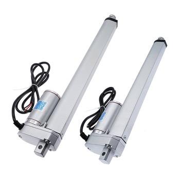 Actuador lineal 300mm 250mm carrera 12 V 24 V motor de actuador lineal 100/200/300/ 500/750/800/900/1100/1300/1500N
