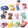 12PCS/Lot Cute Puppy Dog Anime Action Figure Toys Figura aktion Aktion figura Juguetes Patrulla PVC Toys