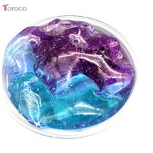 DIY Clear Slime Toys Crystal Mud Fluffy Slime Glue Gradient Color Cloud Slime Supplies Magic Sand Antistress Putty Clay(China)