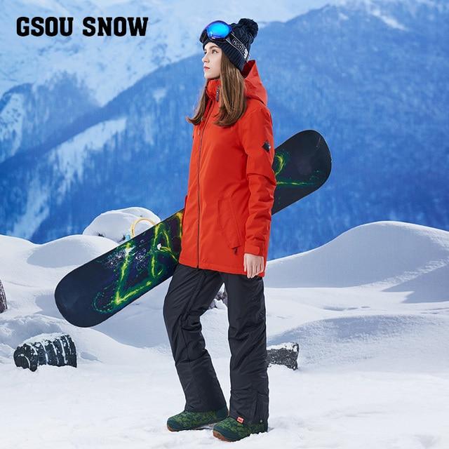 66f975467db85 2017 nuevas muchachas traje de esquí femenino trajes de largo puro caliente  ya prueba de viento