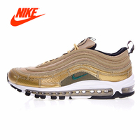 Original Gold Color Nike Air Max 97 CR7 Men's Running Shoes Sport Nike Sneakers for Men Breathable Outdoor Shoes AQ0655 700