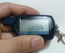 Controle Remoto 2-way LCD Corrente Chave Fob, Tamarack Para Segurança Do Veículo em Dois sentidos do Sistema de Alarme de Carro Versão Russa Starline A91
