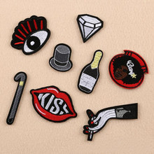 Hat And Finger Badge Repair Patch Embroidered Iron On Patches For Clothing Close Shoes Bags Badges Embroidery DIY