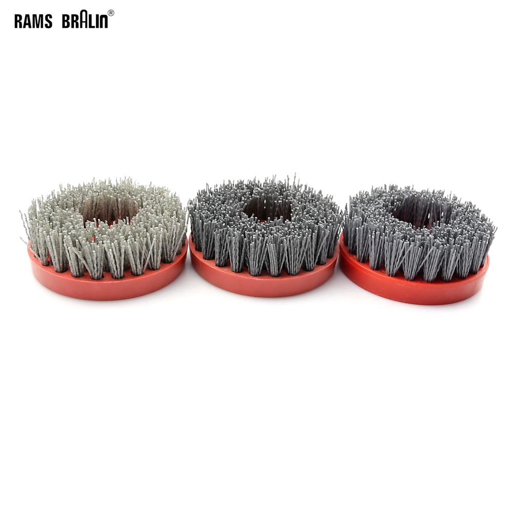 2 pieces 110mm *M14 Abrasive Wire Antiquing Brush Wood Furniture Stone Polishing Wheel + Rod for Dirll Polisher