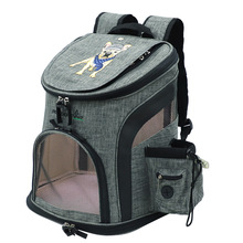 2019 Travel Plus Size Embroidery Pet Backpack Carrier Dog Oxford Portable Cat Breathable Foldable M