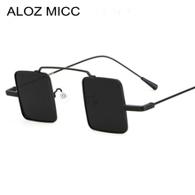 ALOZ MICC Men/Women Metal Red Yellow Blue Clear Small Square Sunglasses Brand Design Vintage Reflective oculos Q05