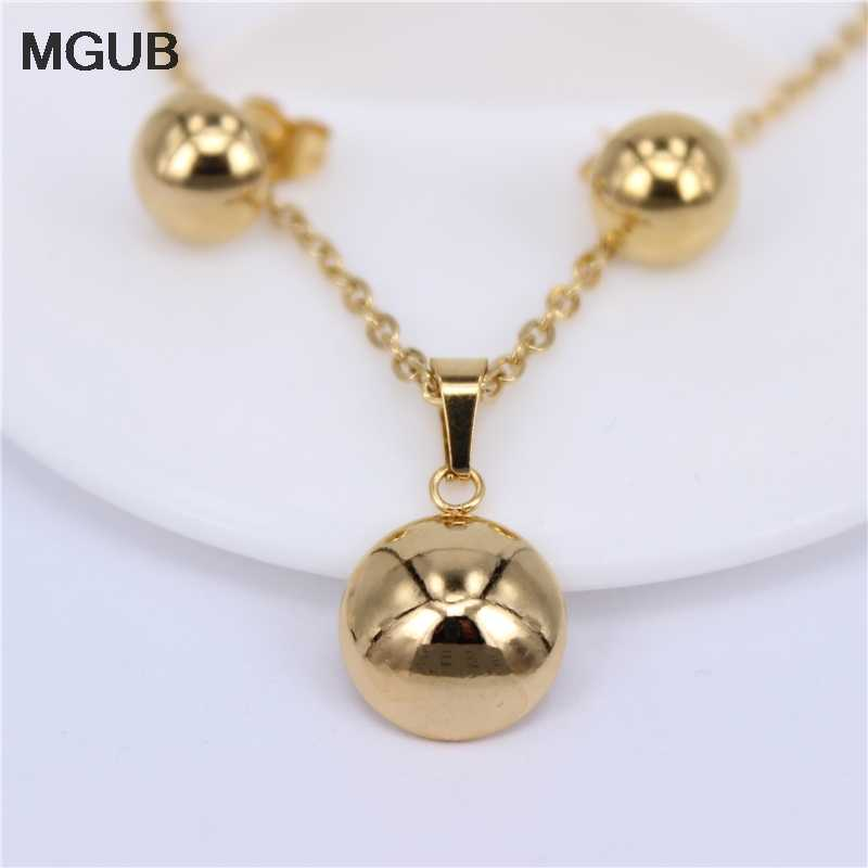 MGUB Stainless steel vacuum semicircle jewelry set smooth Bright Lightweight Distribution chain female accessories HY576