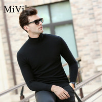 MIVI Brand Turtleneck Sweater Wool Men Thick Slim Autumn Wear For Men Basic Knitted Pullover Winter