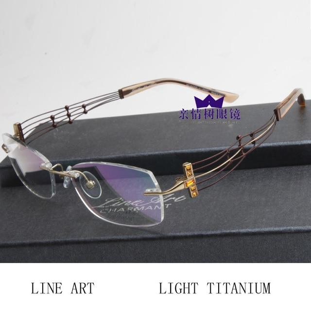 38127298d3 High Quality CHARMANT Line Art ultra-light titanium rack rimless eyeglasses  frameglasses myopia picture frame